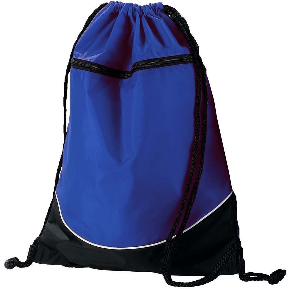 Augusta Tri-color Drawstring Backpack - Royal/black