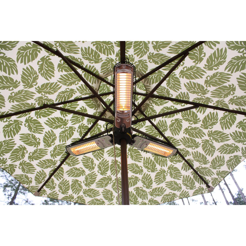 Fire Sense Umbrella Style Electric Halogen Patio Heater