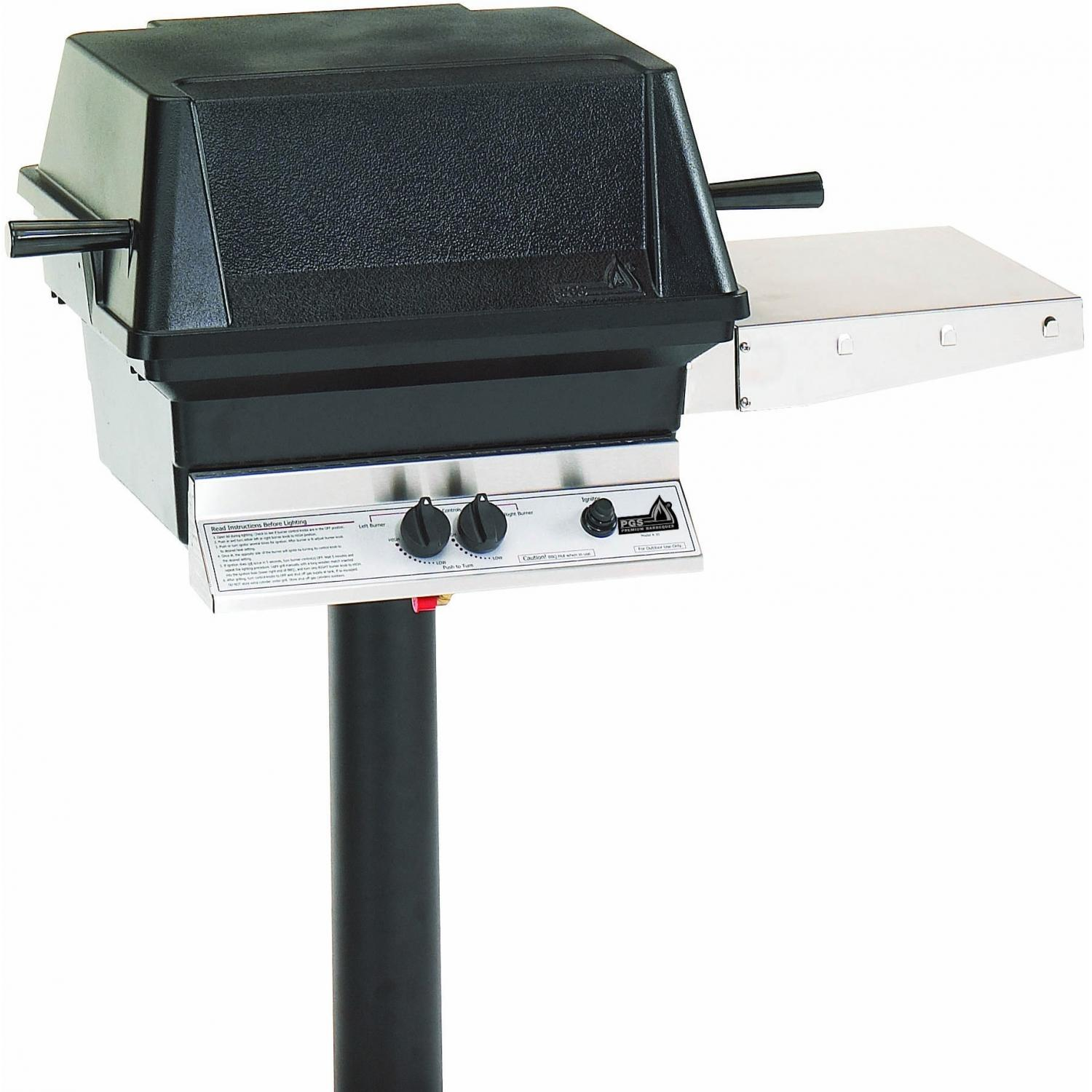 PGS A40 Cast Aluminum Propane Gas Grill On In Ground ...