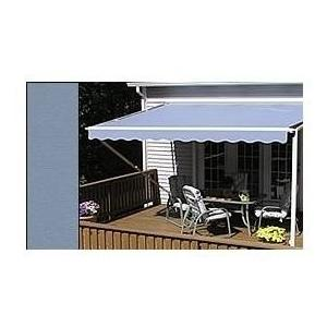 Sunsetter Pro Motorized Awning (18 Ft / Solid Smoke) With Traditional Laminated Fabric With Right Mounted Motor And Wall Bracket at Sears.com