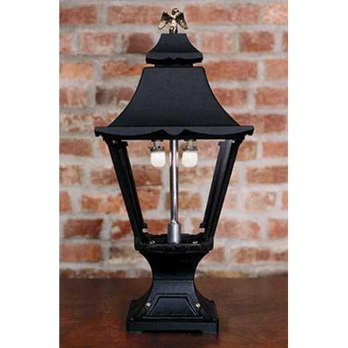Gaslite America GL1900 Cast Aluminum Manual Ignition Natural Gas Light With Dual Mantle Burner And Pedestal Mount