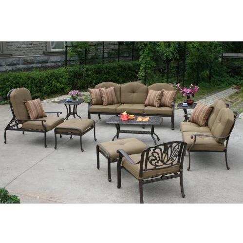 Darlee Elisabeth Patio Lounge Set With End & Coffee Tables