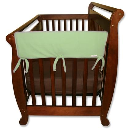 Trend Lab Wide 2-Piece Crib Rail Guard 27 Inch - Sage Fleece