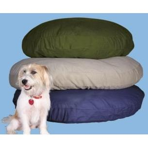 Karin Maki Solid Color Round Dog Bed - Blue