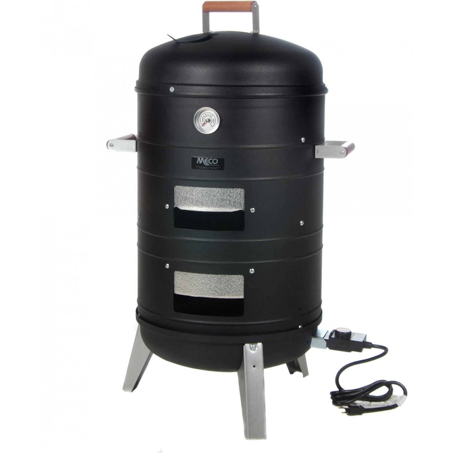 Meco Smokers - 5030 Electric Smoker And Grill - Black