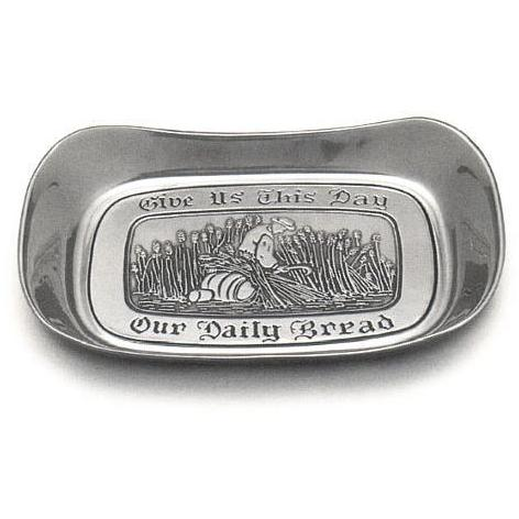 Wilton Armetale Give Us This Day Large Bread Tray