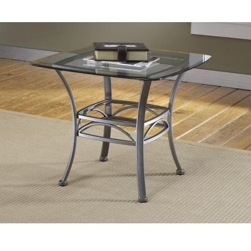 Hillsdale Abbington Square End Table - Dark Pewter - 4885OTE