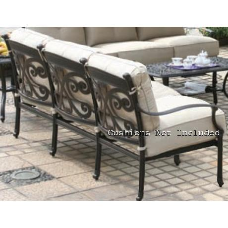 Alfresco Home Farfalla Deep Seating Sofa Frame - Antique Wine