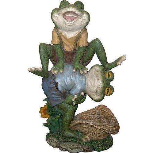 Alpine Playful Frogs Statuary