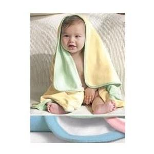 Bella Baby 1x1 Rib Reversible Blanket - Baby Blue/White