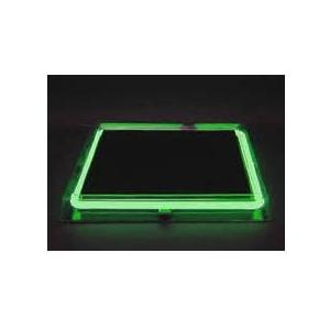 Neon Concepts 15 Inch Square Clear Top Serving Tray (Green Neon / Disposable Battery)