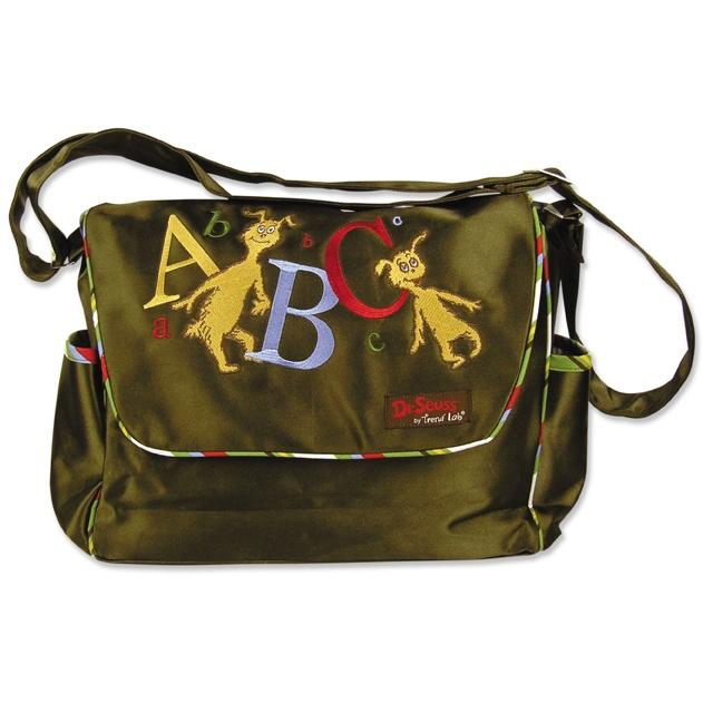 Trend Lab Embroidered Dr Seuss ABC Messenger Diaper Bag.