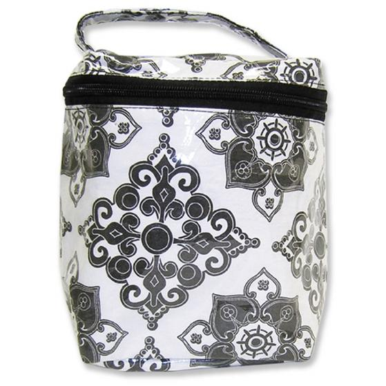 Insulated Bottle Bag - Versailles Black And White.