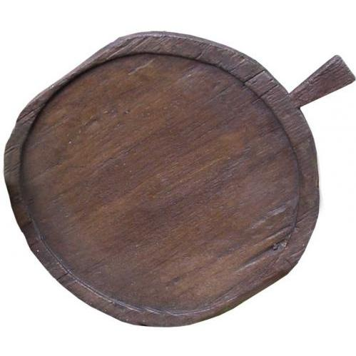 Groovy Stuff Round Teak Wood Rice Serving Tray - TF-296