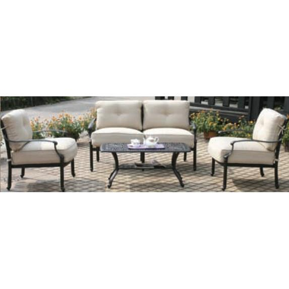 Alfresco Home Farfalla Lounge Set - Antique Wine