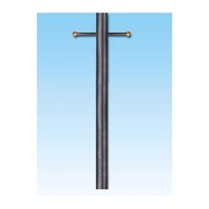 Gaslite America P120 10 Foot Smooth Black Aluminum Gas Light Post With Ladder Rest