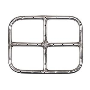 12 X 9 Inch Stainless Rectangular Single Natural Gas Fire Pit Ring