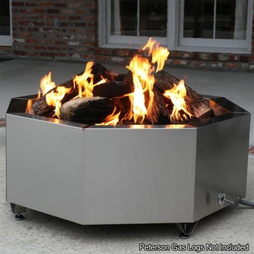 BBQ Guys 42 Inch Stainless Steel Octagon Fire Pit