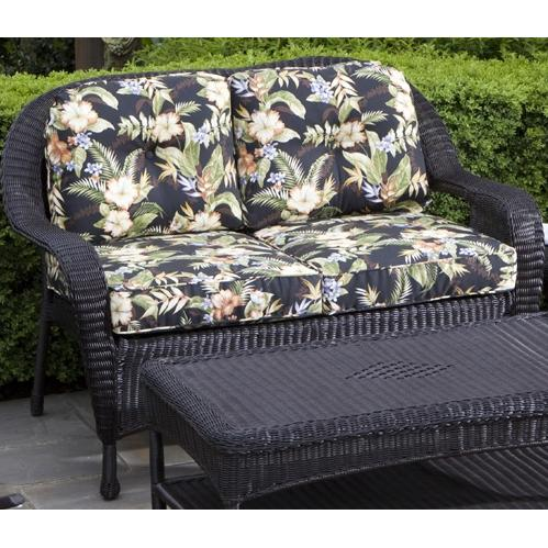 Alfresco Home Amelia Deep Seating All-Weather Wicker Love Seat - Sable Brown