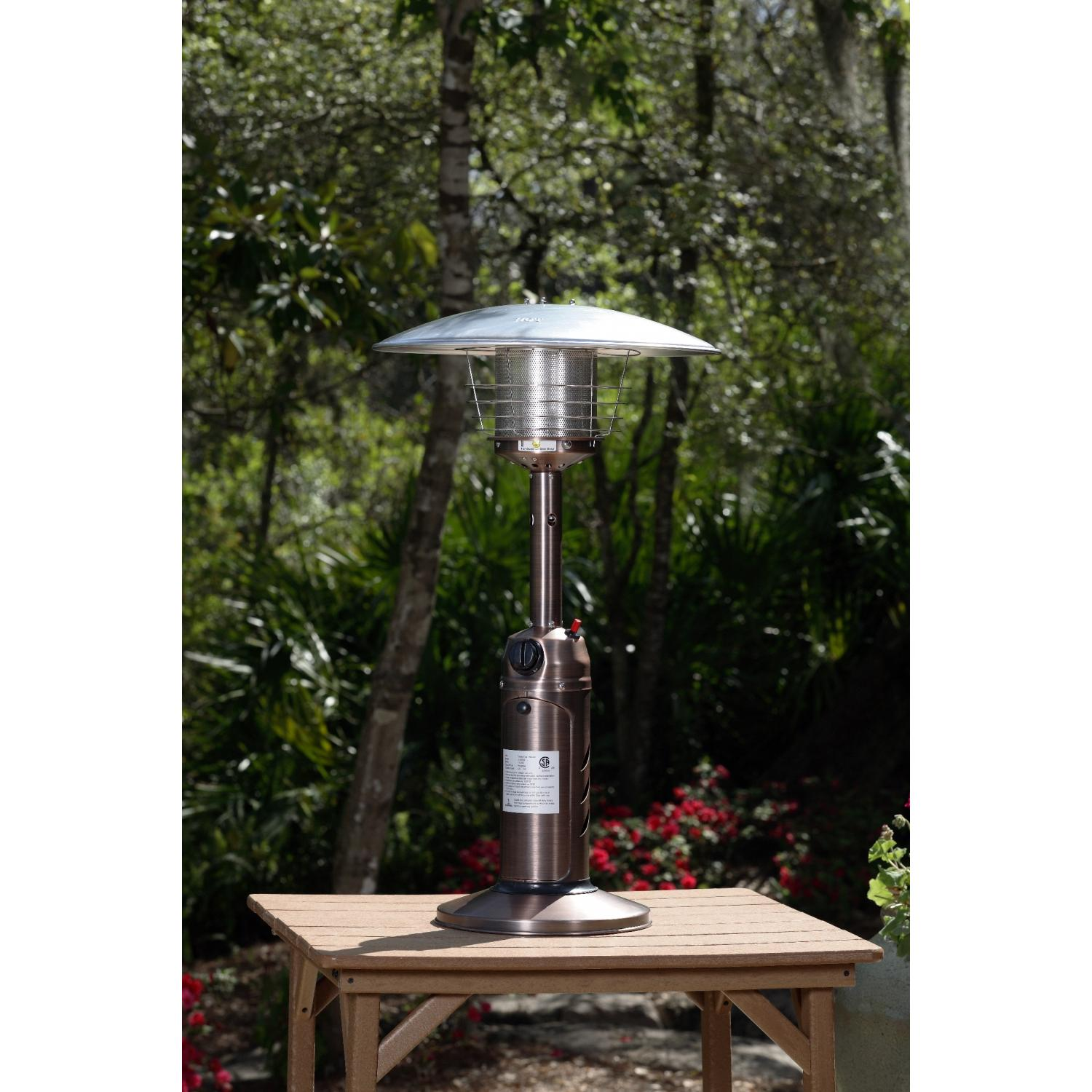 Fire Sense 10000 BTU Table Top Propane Patio Heater With Piezo Ignitor - Copper