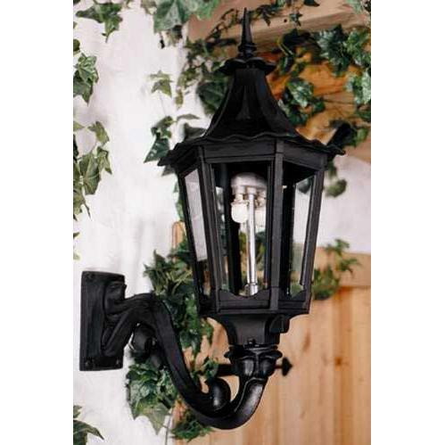Gaslite America GL1400 Cast Aluminum Manual Ignition Natural Gas Light With Open Flame Burner And Standard Wall Mount