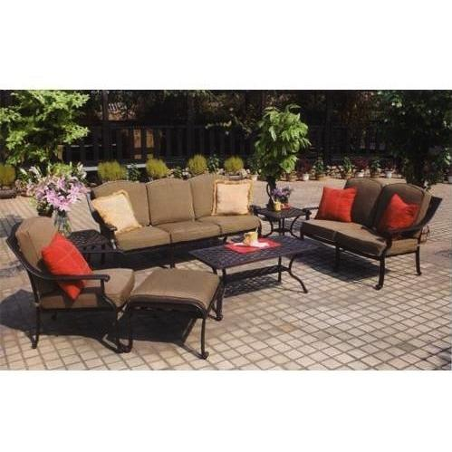 Darlee Ten Star Cast Aluminum Patio Lounge Set With Coffee Table