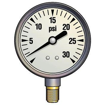 Hurricane Products 0-60 PSI Pressure Gauge