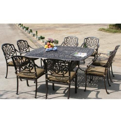 Darlee Elisabeth Patio Dining Set With Cushions - 64 Inch Square