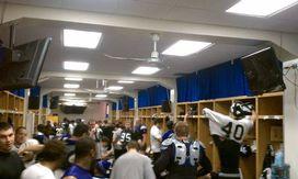 NU locker room at Wrigley