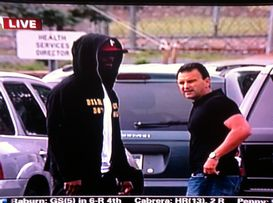 Plaxico Burress and Drew Rosenhaus
