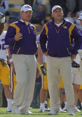 Les Miles and Gary Crowton