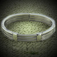 Bracelets - MEN'S BRACELET CUFF MENS MEN'S STAINLESS STEEL BRACELETS CUFF BANGLE BRACELETS alternate image 1.