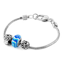 Charms Beads - BLUE FLOWER MURANO GLASS SILVER PLATED SET BEADS CHARMS BRACELETS FIT ALL BRANDS alternate image 1.
