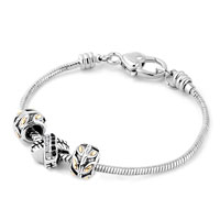 Charms Beads - SILVER PLATED LIFE TREE RING CROSS SPACER SET FITS BEADS CHARMS BRACELETS FIT ALL BRANDS alternate image 1.