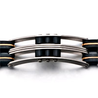Bracelets - MEN'S STAINLESS STEEL BRACELETS CUFF BANGLE BRACELETS MEN'S DOMINEERING CHAIN LINK BRACELET alternate image 1.