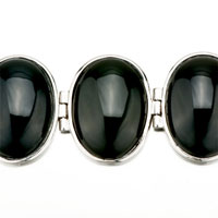 New Year Deals - CLASSIC OVAL BLACK STONE BRACELETS alternate image 1.