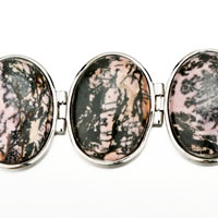 New Year Deals - CLASSIC OVAL BLACK PINK STONE BRACELETS alternate image 1.