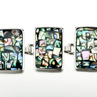 New Year Deals - COLOR MOSAIC PATTERN RECTANGLE SHELL BRACELETS alternate image 1.