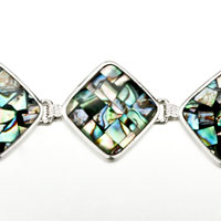 New Year Deals - COLOR MOSAIC PATTERN SQUARE SHELL BRACELETS alternate image 1.