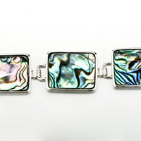 Bracelets - COLOR SWIRL PATTERN RECTANGLE SHELL BRACELETS alternate image 1.