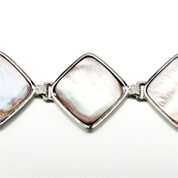 New Year Deals - NEW FASHION CLASSIC SQUARE PINK SHELL BRACELETS FOR WOMEN GIFT alternate image 1.