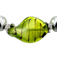 Bracelets - HANDMADE GREEN HELIX CLASSIC MURANO GLASS BRACELET alternate image 1.