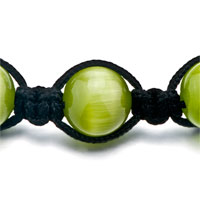 Bracelets - PERIDOT SHAMBALLA BRACELETS WHITE AGATE ADJUSTABLE MURANO GLASS BRACELET alternate image 1.
