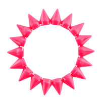 New Year Deals - ROSE PINK ELASTIC ROCK PUNK RIVET STUDS SPIKE BANGLE CHARM STRETCH BRACELET alternate image 1.