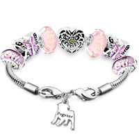 Charms Beads - ENGRAVED DOG BEADS CHARMS BRACELETS FIT ALL BRANDS alternate image 1.