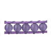 Bracelets - DECORATIVE PURPLE RIBBON STRING BRACELETS alternate image 1.