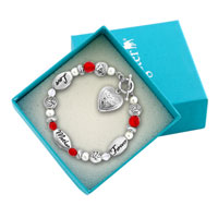 Charms Beads - LOVE MOTHER FOREVER ROSE FLOWERS PEARLS HEART TOGGLE CLASP BEADS CHARMS BRACELETS FIT ALL BRANDS alternate image 1.