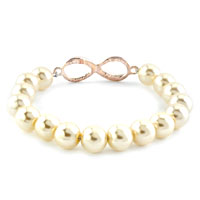 New Year Deals - INFINITY BRACELET FRESHWATER CULTURED PEARL BEADS CRYSTAL BRACELETS alternate image 1.