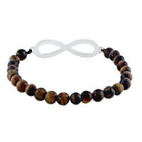 New Year Deals - CLASSIC INFINITY BRACELET BROWN AMBER CRYSTAL BEADS BRACELETS alternate image 1.