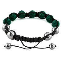 KSEB SHEB Items - SHAMBALLA BRACELET EMERALD GREEN CRYSTAL STONE BALLS SHAMBALLA BEADED BRACELET alternate image 1.